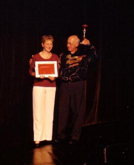 remise des prix Congrès AFAP avec sa fille LAURENCE   TOURS 1995